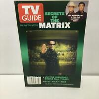 TV Guide October 25-31 2003 Matrix Keanu Reeves Cover