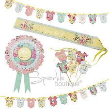 Baby Shower Set-MAMMA-To-Be Rosetta & fascia, Bandierine & Cake Decorazioni-Unisex