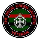 Royal Green Jackets Veterans Inside Car Window Clear Cling Sticker