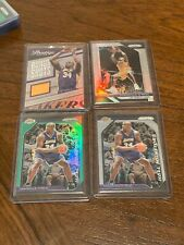 New listing Shaquille O'Neal silver prizm game used jersey /49 prizm green lakers 4 card lot