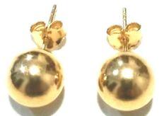 8ef76d894836 14k Oro Amarillo Capa en plata de ley 925 COMPLETO BOLAS Pendiente a  presión 10