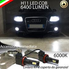 KIT LED AUDI A6 C6 LAMPADE H11 FENDINEBBIA CANBUS 6400 LUMEN 6000K NO AVARIA