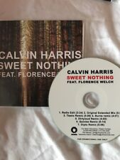 "CALVIN HARRIS FT FLORENCE WELCH ""SWEET NOTHING"" MINT OFFICIAL 7REMIX US CD PROMO"