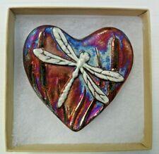 Raku Pottery Heart By Artist Jeremy Diller