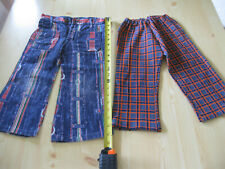 Vintage English 1980's Boy's Jeans Age 2 Two Pairs Blue/Red Cotton/Polyester