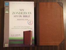 NIV Zondervan Study Bible Personal Size - $69.99 Retail - Chocolate Duotone