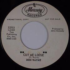 DON WAYNE: Cut Me Loose / Finishing School MERCURY Country 45 Hear