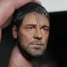 1/6 Scale Roma Gladiator Russell Crowe Head Sculpt Model Toys Fit 12'' HT Body