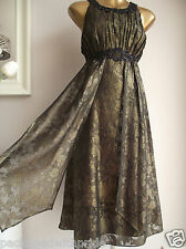 MONSOON CARLITA GOLD BRONZE BLACK EMBELLISHED GRECIAN WEDDING OCCASION DRESS 18