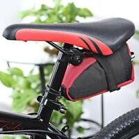 Bicycle MTB Cycling Reflective Saddle Bag Tail Rear Pannier Pouch Seat Bag EH