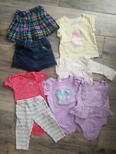12 Months Baby Girl's Lot Pjs Bodysuit Jean's Short Lace Plaid Skirt