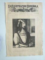 1885 Xilografía: Retrato Alberto Durero Madrid Museo Nacional de Pinturas Durer