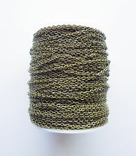 BULK Jewelry Chain -100m (328 Feet) Ant Bronze, Gold, Platinum Silver, Rose Gold