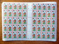 MONTSERRAT Wholesale 1983 - 70c Fish Provisional Sheet of 50 SALE PRICE FP2431