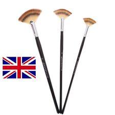 Set taglia 3 Fan Brush Pen per olio acrilico idropittura artista manico in legno