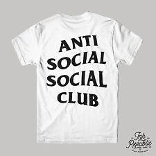 ANTI SOCIAL SOCIAL CLUB T-SHIRT Front & Back Print Kanye West Yeezy Street Hype