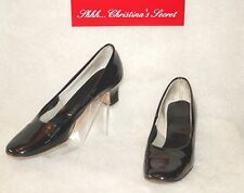 Miss America by Smartaire ~ Vintage Black Patent Leather Classic Pumps Sz 7.5 Aa