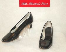Miss America by Smartaire Shoes Vintage Black Patent Leather Sz 7.5 Aa Narrow