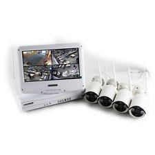 Kit completo Dvr WiFi 4 Canali e 4 telecamere WiFi 1.0 MPX con monitor 10'