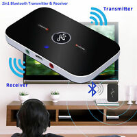 Wireless Bluetooth Audio Receiver/Sender/Transmitter 3.5mm Adapter TV/Headphones
