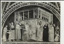 vecchia cartolina di firenze basilica di santa croce san francesco rinunzia
