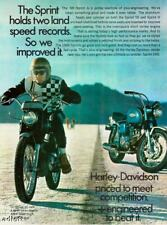 1968 Harley-Davidson Sprint H and SS Speed Record Ad