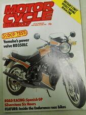 Motor Cycle Weekly Magazine, May 28, 1983, Yamaha RD350LC,   Blue box 2