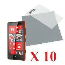 10 X Clear front LCD Screen Protectors Cover Film for Nokia Lumia 820 & Cloth