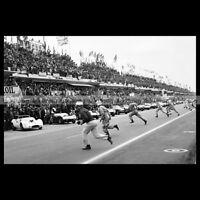 #pha.020177 Photo 24 HEURES DU MANS 1961 LE MANS START RACE DÉPART COURSE