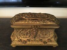 Antique French Large Bronze Jewelry Box
