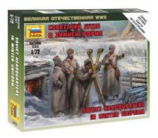 Zvezda Kit de modelismo - 1/72 Escala - soviético SEDE GRUPO Invierno UNIFORME -
