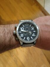 Nixon Men's 51-30 Chrono Silver & Black Watch