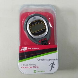 New Balance Coach Digital Stopwatch With Strap 30 Lap Memory, Fastest Lap NEW