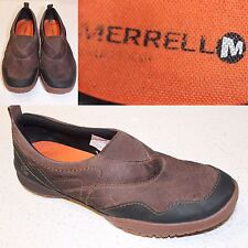 MERRELL WOMENS ESPRESSO LEATHER /FABRIC SLIP ON SELECT GRIP FLATS SIZE 9.5     I
