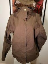 Roxy Ski Jacket Snow Size L Womens Brown Utility Pockets Hood 10000 mm