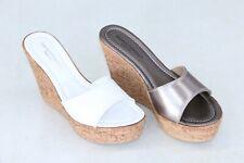 ANDREA PIERAGO Ciabatte zoccoli sandali donna made in Italy zeppa pelle confort