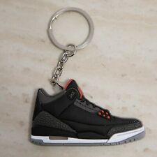 Air Jordan Black Cement 3's Sneaker Key Chain