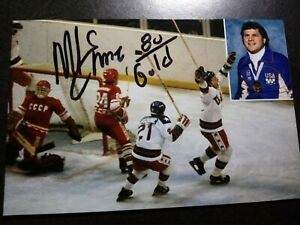 MIKE ERUZIONE Hand Signed Autograph 4X6 Photo  - 1980 OLYMPICS  MIRACLE ON ICE