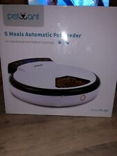 Petwant 5-Meal Automatic Pet Feeder with Personalized Message Recorder!