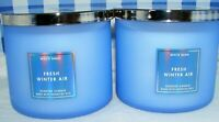Bath & Body Works White Barn FRESH WINTER AIR 3 Wick Scented Candle Lot of 2