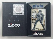 Elvis Presley Chrome Zippo Lighter Brand New MIB Betty Harper