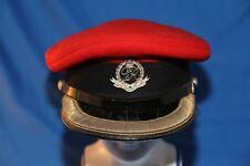 royal military police cap field officer's cap, silver kings crown cap badge