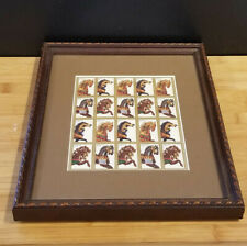 Unused 11X9 Framed 32-cent Stamp Block Qty 20, Carousel Horses, Merry-go-Round