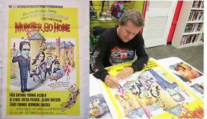 1966 original MUNSTER GO HOME 27x41 movie poster signed BUTCH PATRICK autograph