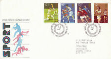 10 OCTOBER 1980 SPORT CENTENARIES POST OFFICE FIRST DAY COVER CARDIFF SHS (p)