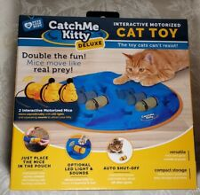 Catch Me Kitty Deluxe Interactive Motorized Cat Toy With Mice New In Box