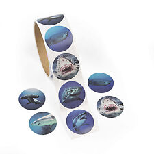 300 realistic SHARK stickers JAWS TEETH ocean BEACH luau party favors