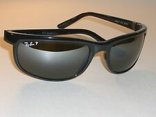 RAY BAN RB2027 601/W1 PS2 TOP GRADIENT MIRROR POLARIZED PREDATOR SUNGLASSES MINT