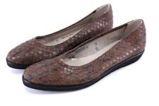 UNWORN brown snakeskin SALVATORE FERRAGAMO boutique loafers shoes flat 6 S N