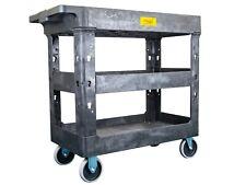 "Pake Handling Tools - Plastic 3 Shelves Utility Cart, 550lbs Capacity, 34"" x 16�"